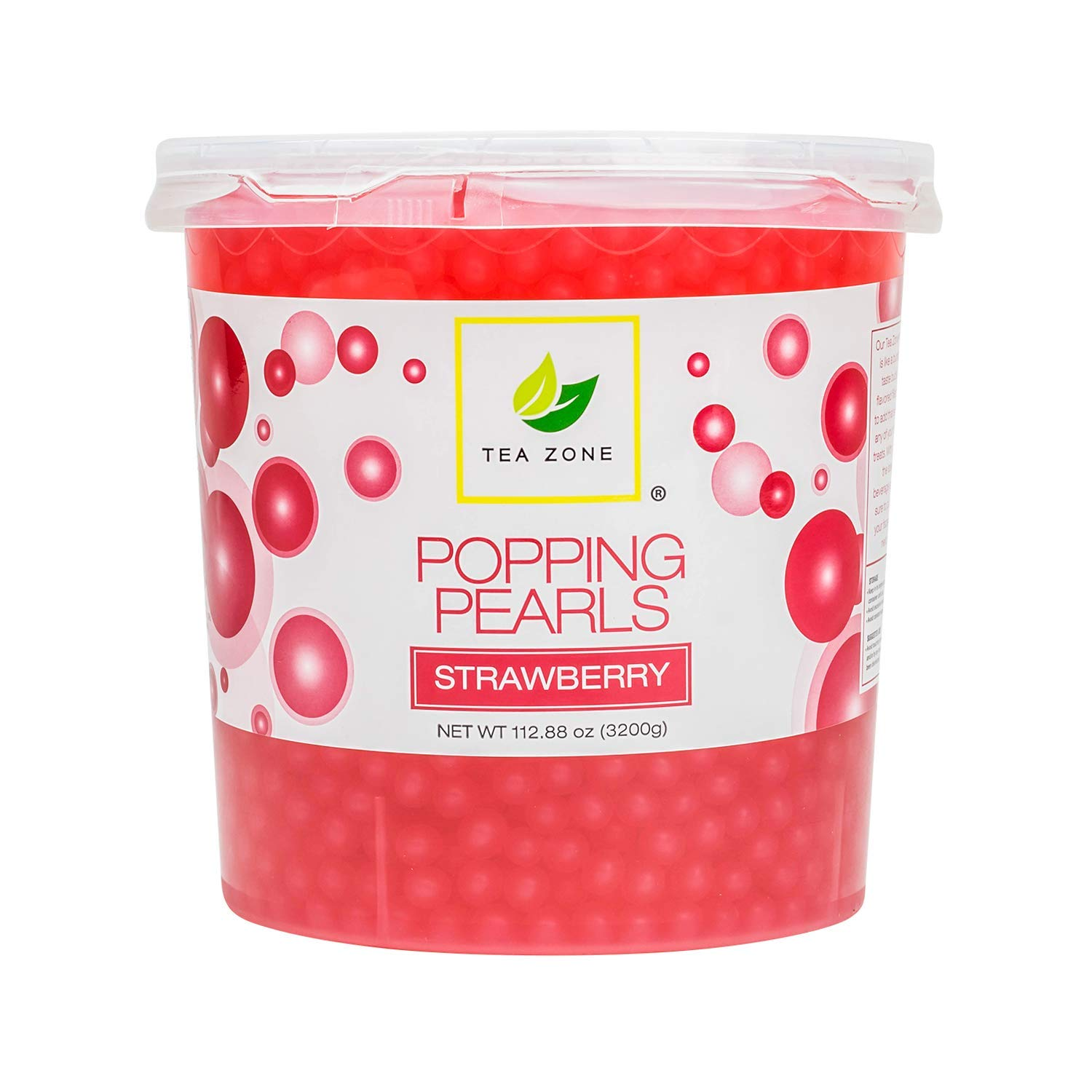 TEA ZONE Apex Popping Pearls Jar, Strawberry, 112.9 Ounce