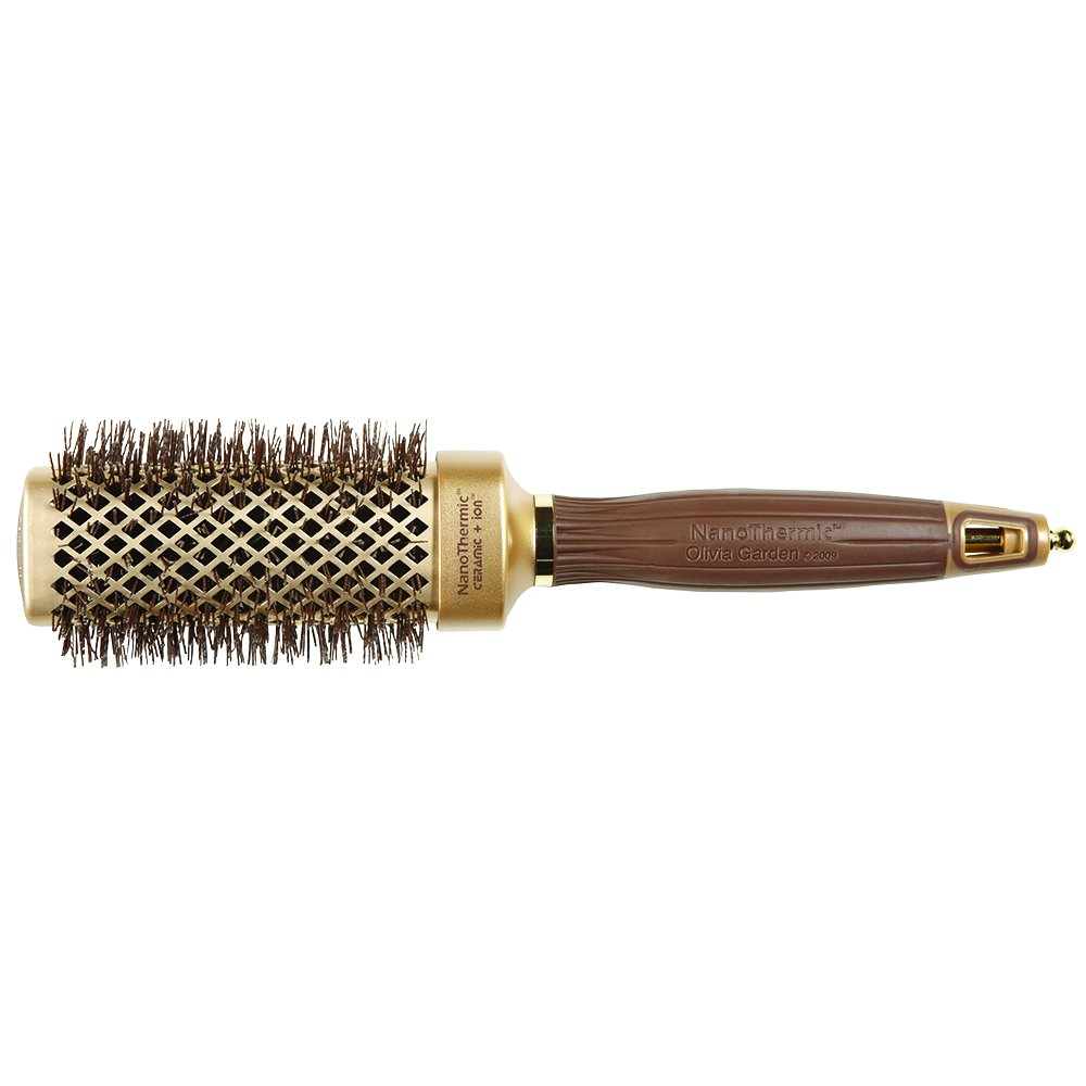 "Olivia Garden NanoThermic Ceramic + Ion Square Shaper Thermal Hair Brush NT-S40 (1 1/2"")"