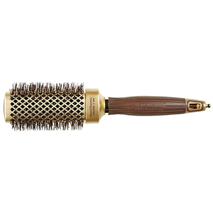 "Olivia Garden NanoThermic Ceramic + Ion Square Shaper Thermal Hair Brush NT-S40 (1 1/2"")"
