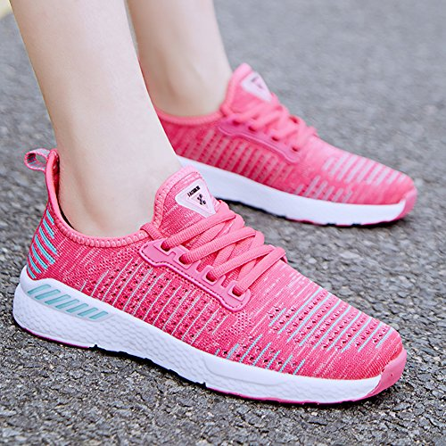 Flat Red Flyknit 66 Running Mens up Rose Town No Athletic Lace Womens Shoes Lover Sneakers 8q6wT01