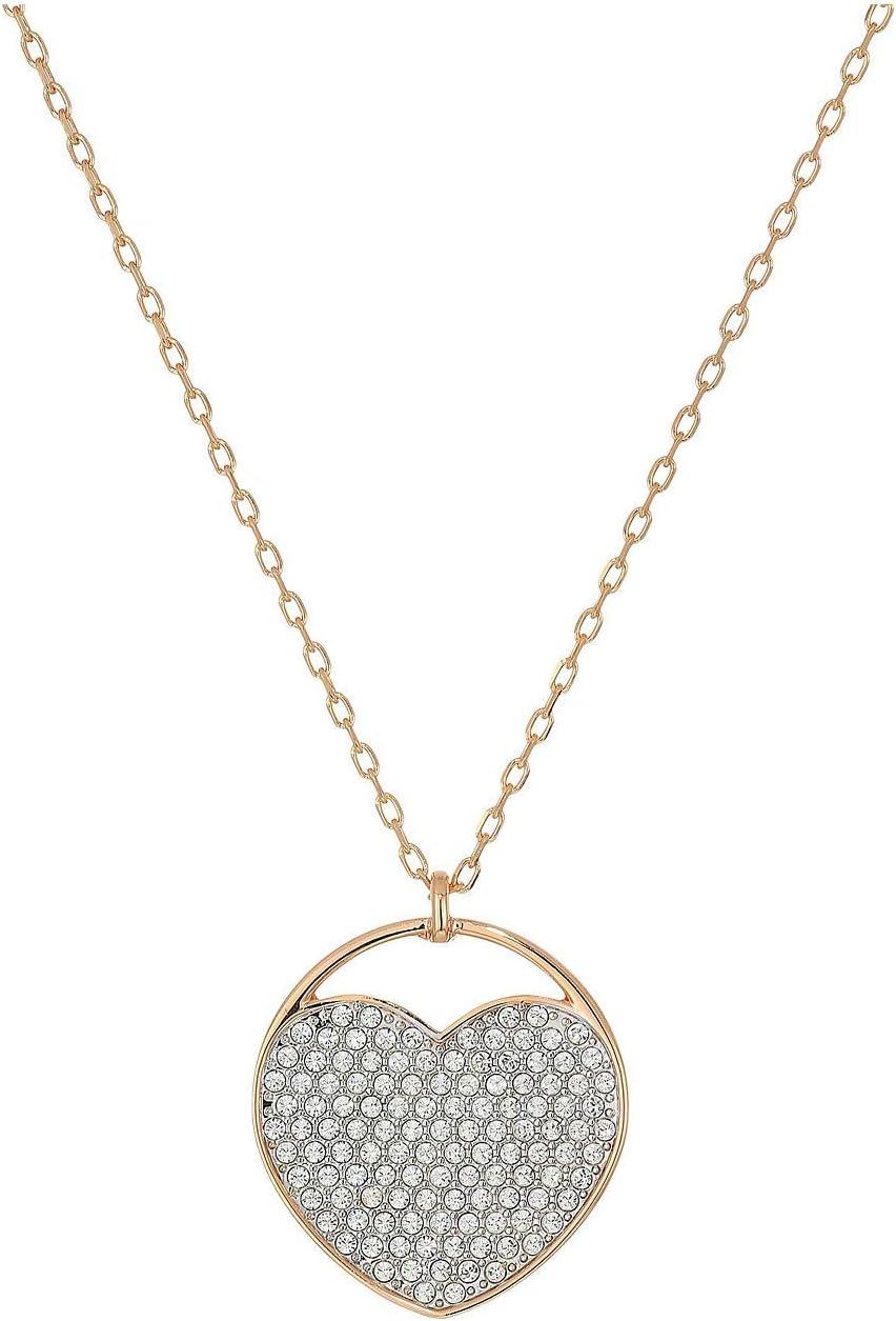 SWAROVSKI Crystal Rose Gold-Tone Ginger Heart Pendant Necklace
