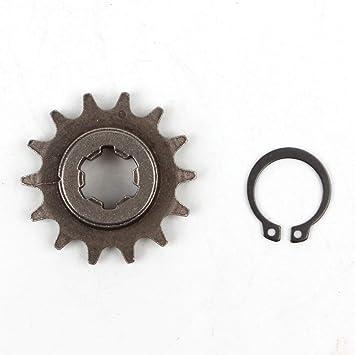 Pro CAKEN T8F 14T - Piñón frontal de embrague, cadena de piñón 47 cc 49 cc Dirt Bike Minimoto T8F paso 14 dientes: Amazon.es: Coche y moto
