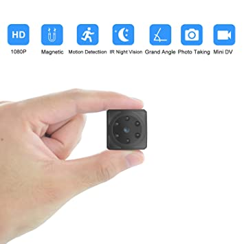 Mini cámaras espía Oculta Videocámara 1080P HD Cámara Vigilancia Portátil Secreta Compacta con Detector de Movimiento IR Visión Nocturna, Camaras de ...