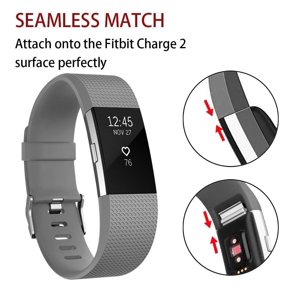 Classic Soft TPU Silicone Adjustable Replacement Bands Fitness Sport Strap for Fitbit Charge 2 Tersely Fitbit Charge 2 Strap Band