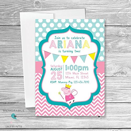 Image Unavailable Not Available For Color Peppa Pig Birthday Invitations