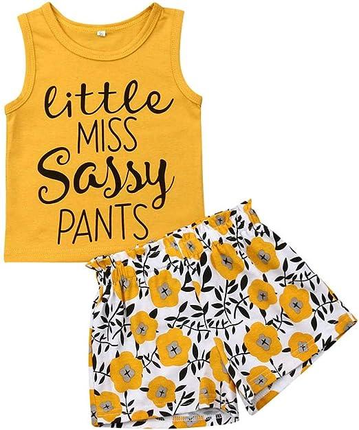 2pcs toddler kids baby girls clothes T-shirt Top+shorts pants outfits set floral