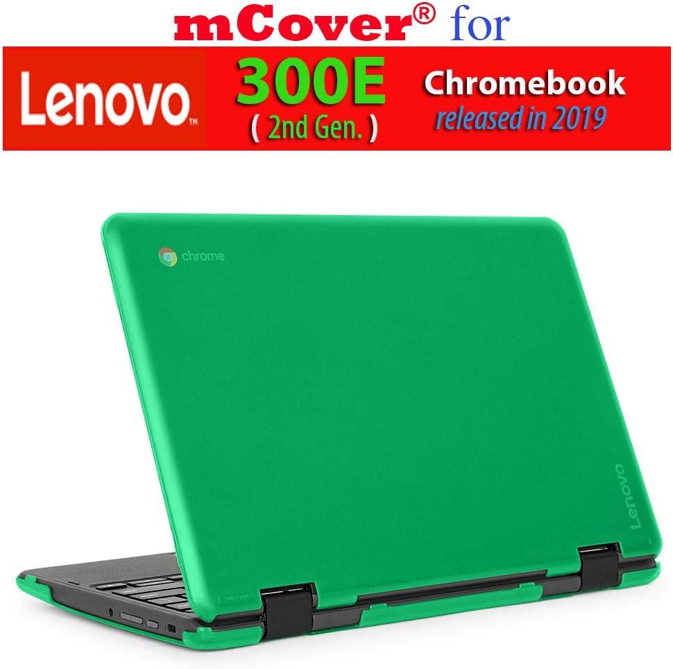 """mCover Hard Shell Case for 2019 11.6"""" Lenovo 300E (2nd Gen.) 2-in-1 Chromebook Laptop (NOT Fitting Lenovo 300E Windows & N21 / N22 / N23 /100E / 500E Chromebook) (Green)"""