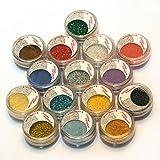15 Warm Color Glitter Shimmer Pearl Loose Eyeshadow Pigments Mineral Eye Shadow Dust