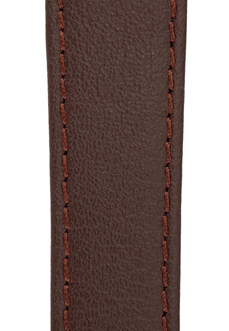 Signature Seasons in brown 18 mm short watch band. Replacement watch strap. Genuine leather. Silver Buckle