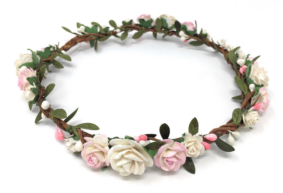 Silver Flower crown Rose Crystal crown Hair wreath Boho wedding headpiece Bridal headband Maternity Flower girl Bridesmaid Halo baby Newborn