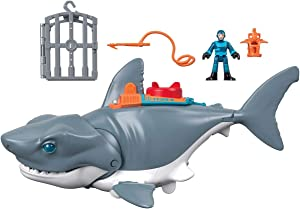 Fisher-Price GKG77 Imaginext Mega Bite Shark, Figure Set with Realistic Motion, Multicoloured