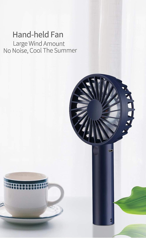 Amazon.com: CARWORD Mano Con Mini ventilador USB Mesa recargable Pequeño Eléctrico para el Hogar, la Cama, la Oficina y el Escritorio: Home & Kitchen
