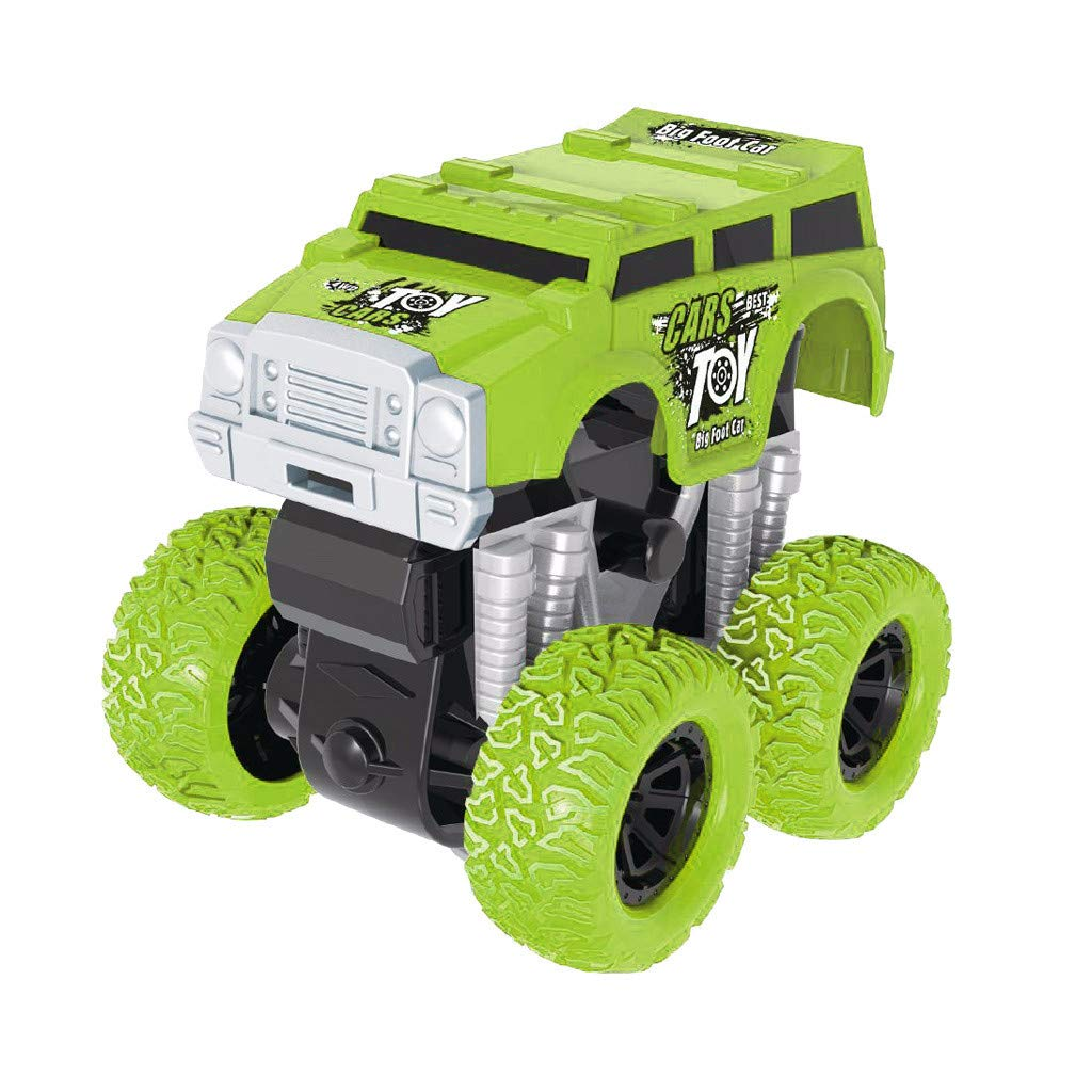 Jinjin Car Toy,Inertia Four-Wheel Drive Off-Road Vehicle Simulation Model Toy Baby Car Model (Green)