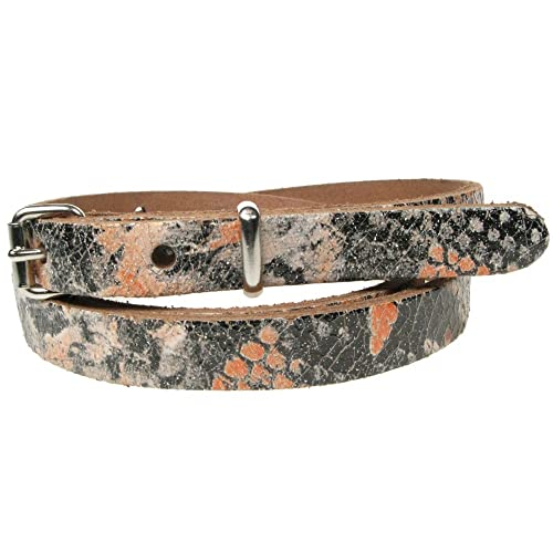 Genuine Skinny fino de 12mm Fashion cintura Ladies para mujer cinturón de piel de aspecto de piel de...