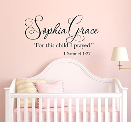 Amazon.com: For This Child I Prayed 1 Samuel 1:27 - Scripture Quote ...