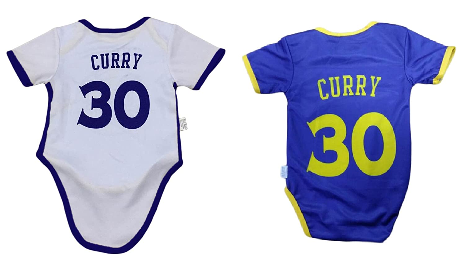 Amazon.com  iSport Gifts Steph Curry Basketball Jersey Baby Infant    Toddler Onesies Rompers Pack of 2 Home   Away Jersey Design Bundle  Sports    Outdoors 0460a3dbb
