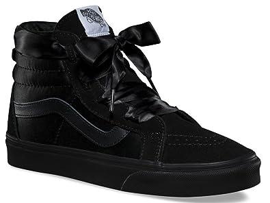 7526f6a1a2d8  Vans SK8 Hi Ballerina Alt Lace Black Womens Suede Trainers  Amazon.co.uk   Shoes   Bags