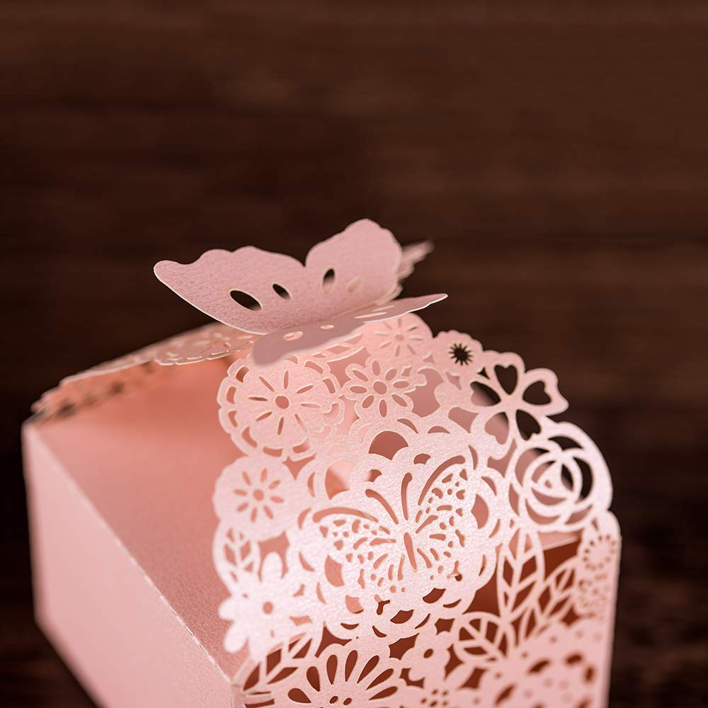 Amazon.com: KAZIPA 50pcs Laser Cut Favor Boxes, 2.6\