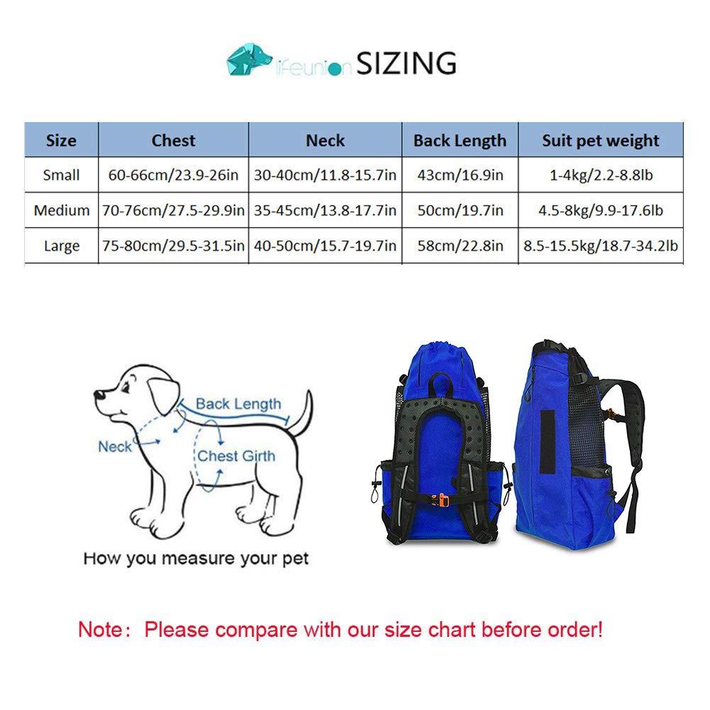 Sicurezza Morbido Borsa da Trasporto Viaggio per Animali Domestici Cani Gatti WLDOCA Zaino Pieghevole per Cani Traspirante