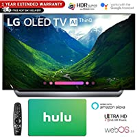 LG Electronics 4K Ultra HD Smart OLED TV 4K HDR AI Smart TV with Hulu $100 Gift Card & 1 Year Extended Warranty (55 OLED55C8)