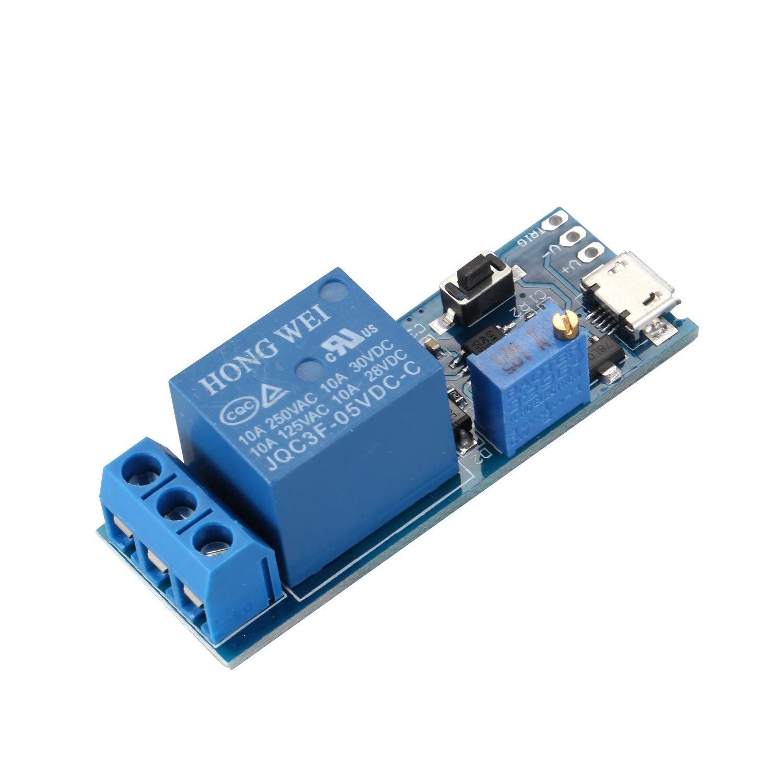 TOOGOO(R) Wide voltage 5V-30V trigger delay relay module, timer module, time delay switch by TOOGOO(R) (Image #2)