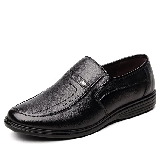 Shoes Men's Shoes 2018 New Style Office & Career/Casual Business Comfort Loafers Black (Color : Black Size : 38)