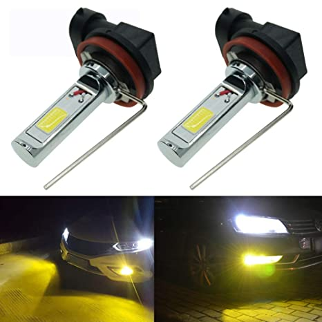 Amazon Com Calais Extremely Bright H8 Led Fog Lights 2000 Lumens