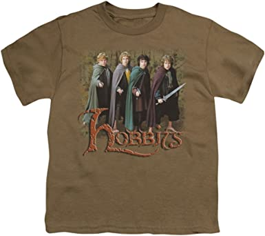 Amazon Com The Lord Of The Rings Movie Hobbits Frodo Sam Merry Pippin Big Boys T Shirt Tee Clothing