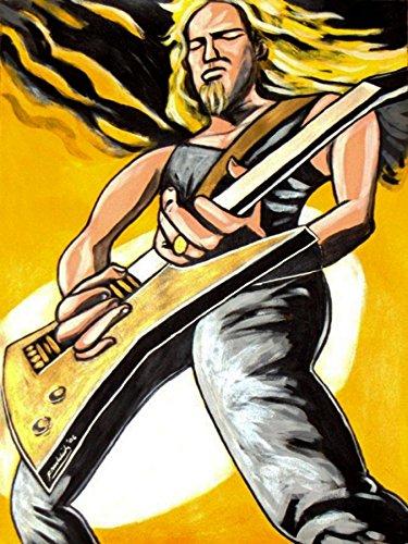 JAMES HETFIELD PRINT POSTER guitar cd lp record album vinyl Metallica esp explorer electric black kill em all st. anger