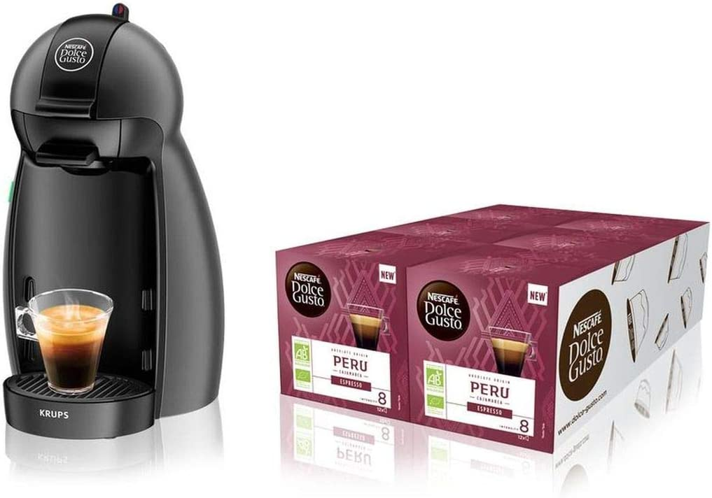 Krups Piccolo máquina + 6 cajas de cápsulas bio gris: Amazon.es: Hogar