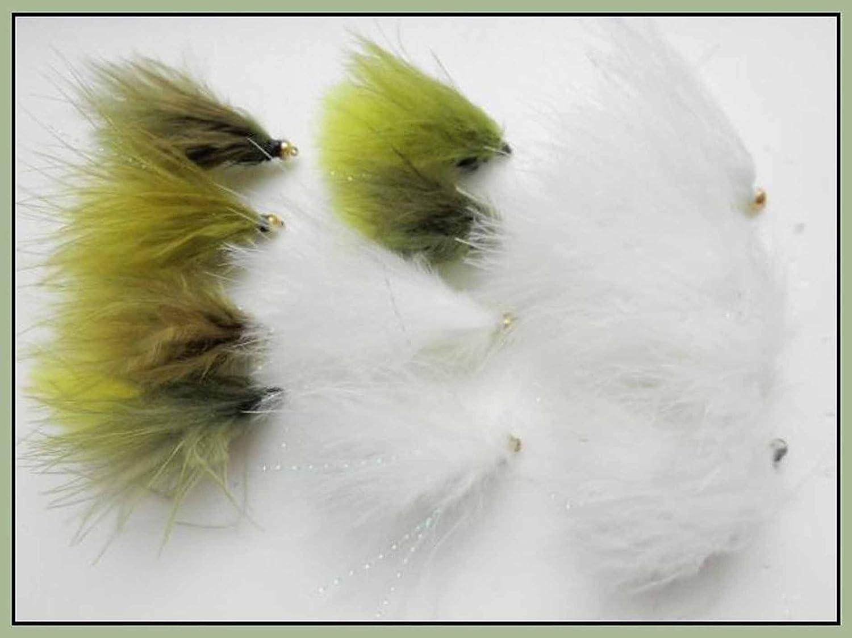 12 gatti peluche Dawsons & Olive-Canna da pesca, misure assortite, confezione mista, per pesca con la mosca Troutflies UK X13