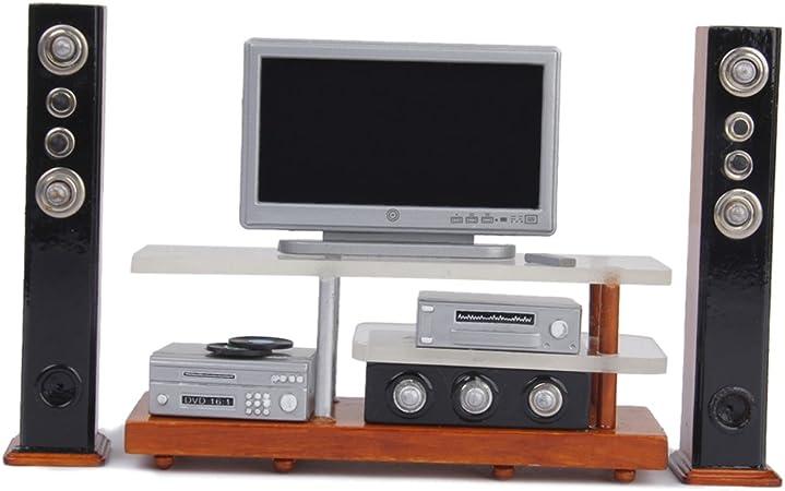 Amazon.es: 1:12 Dollhouse Un Set de Miniatura Muebles TV DVD: Juguetes y juegos