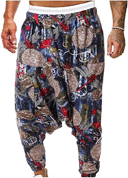 Kankanluck Mens Relaxed Loose Fit Chinese Style Plus-size Hip Hop Sweatpants