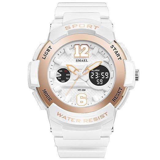 Daesar Reloj Mujer Reloj Deportivo Relojes Electronicos Reloj Mujer Quartz Reloj Deportivo Reloj Multifunción Oro Rosa: Amazon.es: Relojes