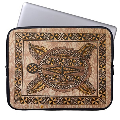 Christmas Gift for Men Funny Laptop Sleeve Cover 13 13.3-13.8 Inch Honu Primitive Hawaiian Tattoo Tapa Wetsuit Computer Cases Protective Bag for Macbook Air 13