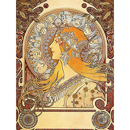 Wee Blue Coo Alphonse Mucha Zodiac 1896 Old Master Painting Unframed Wall Art Print Poster Home Decor Premium