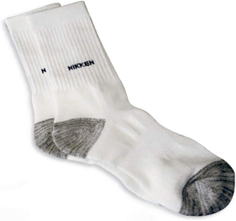 Nikken 1 Sport Socks (17681) - Cotton Sports Crew Sock for Men and Women - Breathable Cotton Sport Socks - Extra Large Men 13-16