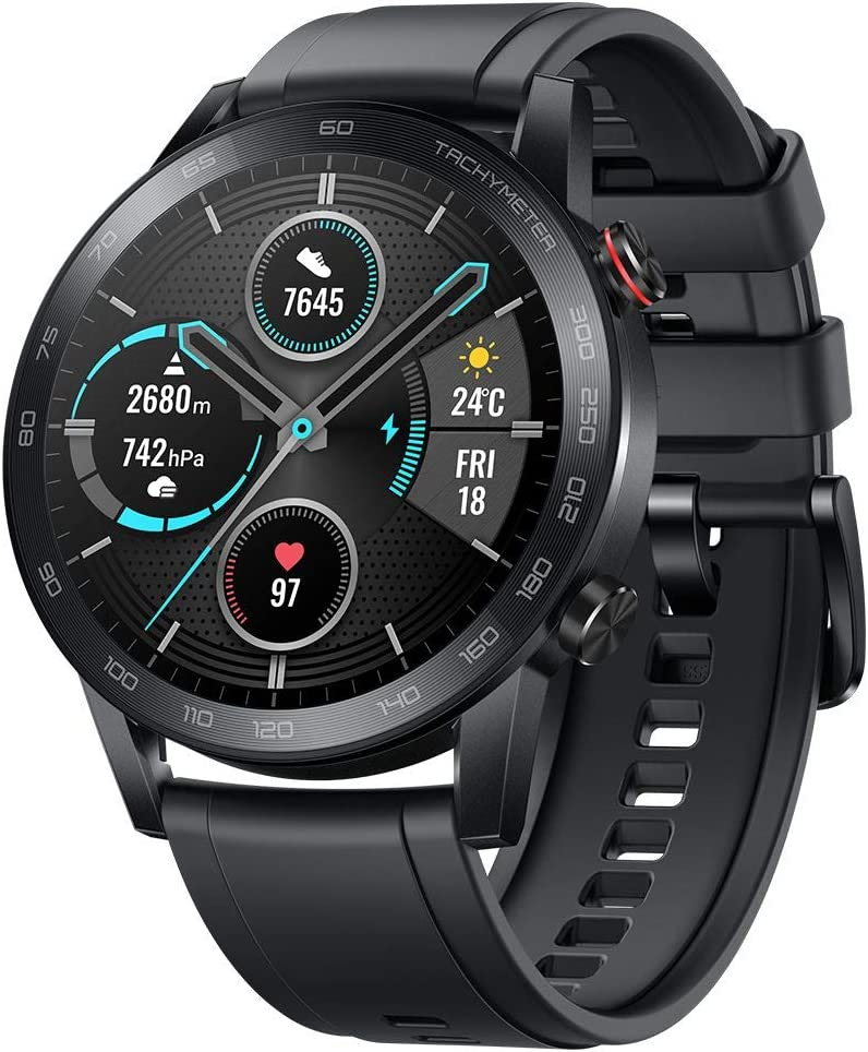 "Original Huawei Honor Watch Magic Watch 2 Minos 46mm Smartwatch 1.39"" AMOLED Always-on Display 5ATM 14days Battery Life with Mic(Sport Carbon Black)"