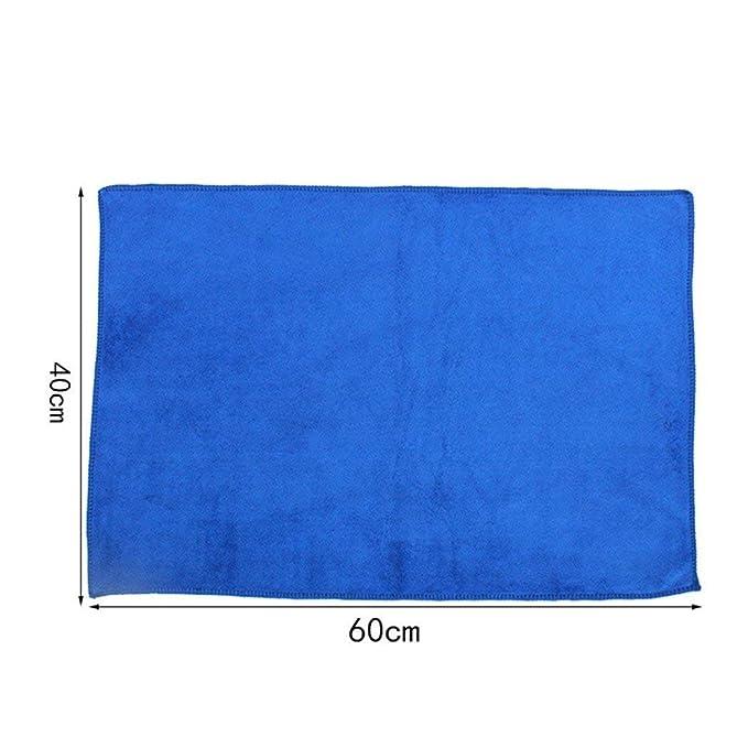 Ogquaton Paño de Limpieza de Coches Microfibra Paños de Limpieza Suaves Herramienta de Limpieza de Capas Adecuada para la Limpieza de automóviles (Azul): ...
