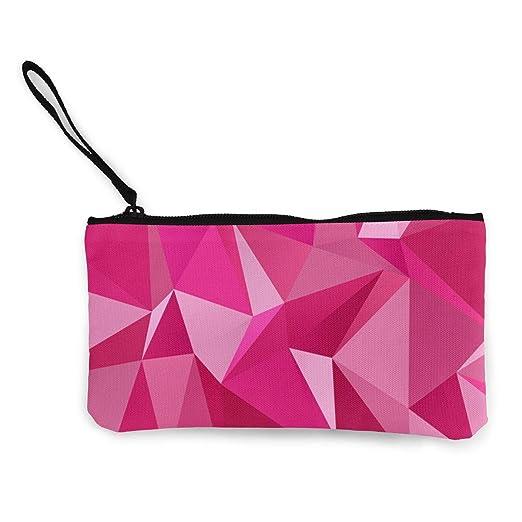 Wrution - Monedero de Tela, diseño geométrico, Color Rosa y ...