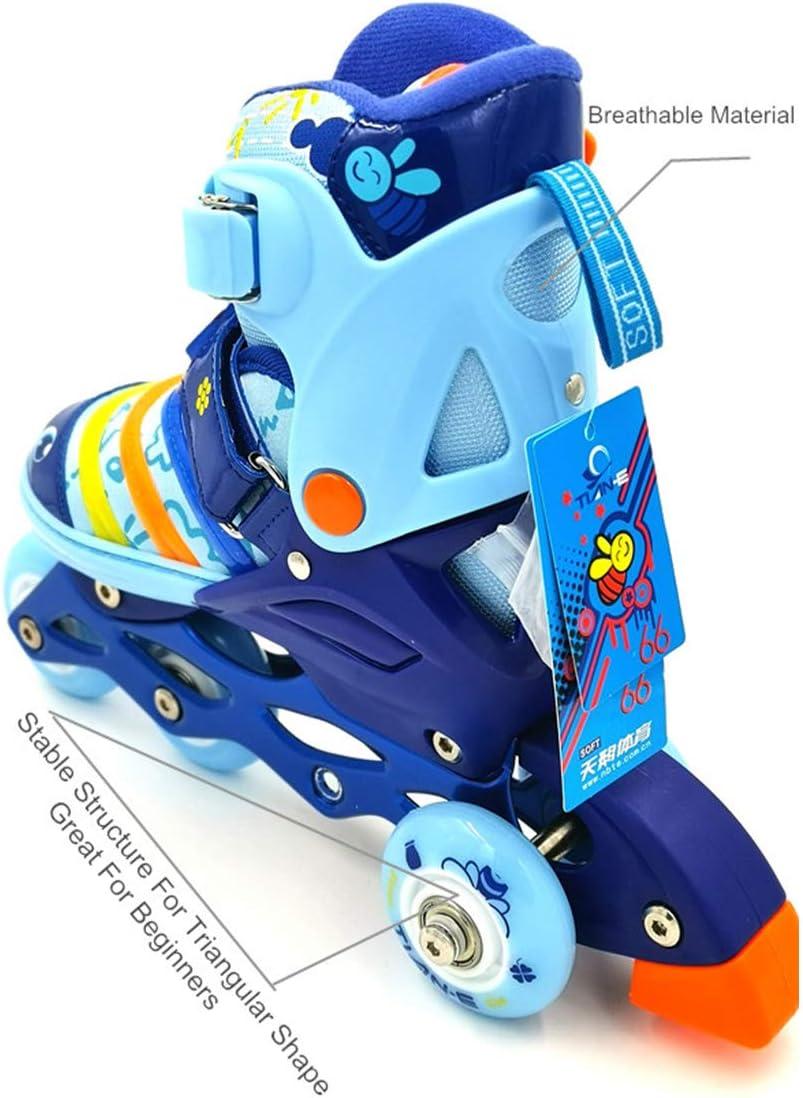 Mpoutik Boys Girls Adjustable Inline Skates Roller Skates 2 in 1 Convertible Speed Roller Skates Shoes for Children Kids Teens