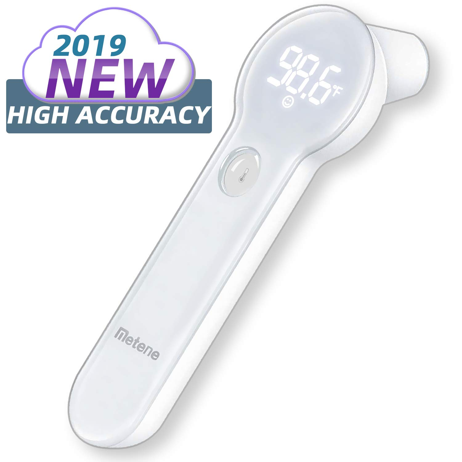 Baby Thermometer for Fever - Instant Accurate Reading Medical Digital Forehead and Ear Thermometer - Metene Infrared Infant Thermometer for Best Accuracy with Indicator for Kids, Toddlers, and Adults by Metene