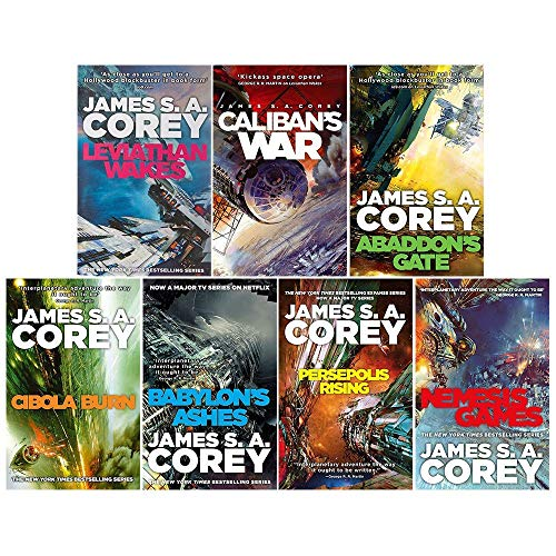 James S. A. Corey Expanse Series 7 Books Collection Set (Leviathan Wakes, Caliban