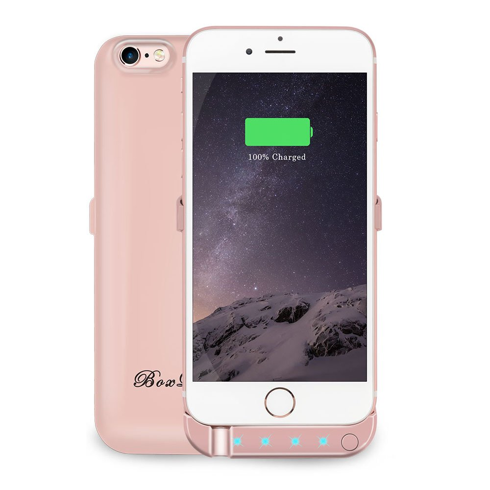 BoxLegend 3000mAh Polymer Battery Charger Charging Case for iphone 6/6s - Rose Gold