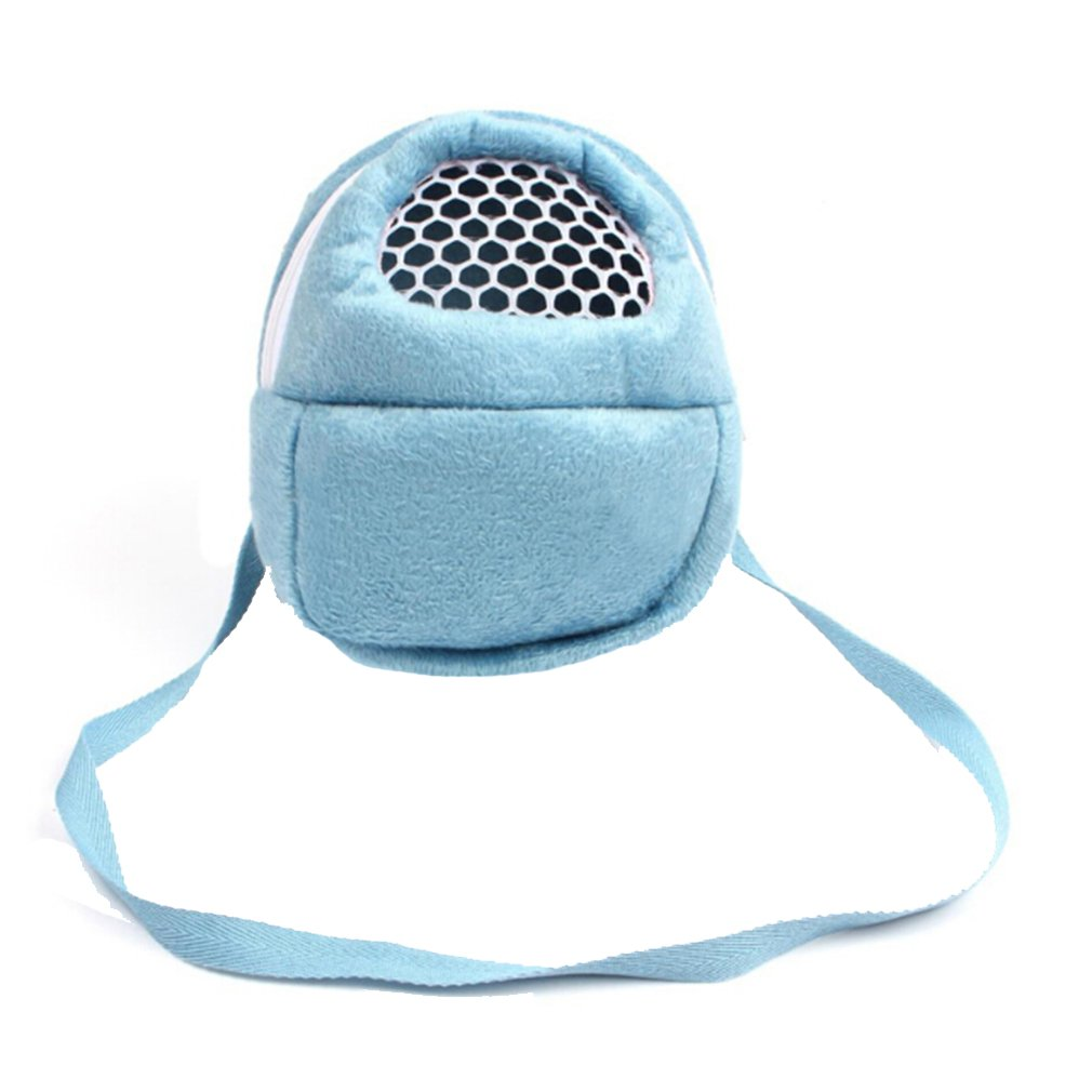 HENGSONG Portable Pet Carrier Bag Hamster Rat Hedgehog Chinchilla Ferret Carrier Packet Bag for Small Animals (S - 18 x 13cm, Blue) mei_mei9 UK8865990A