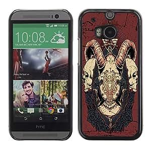 Dragon Case - FOR HTC One M8 - If you leave me - Caja protectora de pl??stico duro de la cubierta Dise?¡Ào Slim Fit