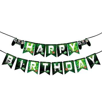 WERNNSAI Juego Cumpleaños Pancartas - Vídeo Juego ...