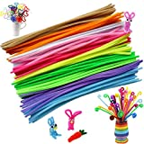 Bestgle 400 Pcs Long Chenille Stems DIY Tool Kindergarten Handmade Art Supplies Decorative Craft Sticks Assorted Colors Pipe Cleaners for Kid, 6 x 300mm, 10 Colors