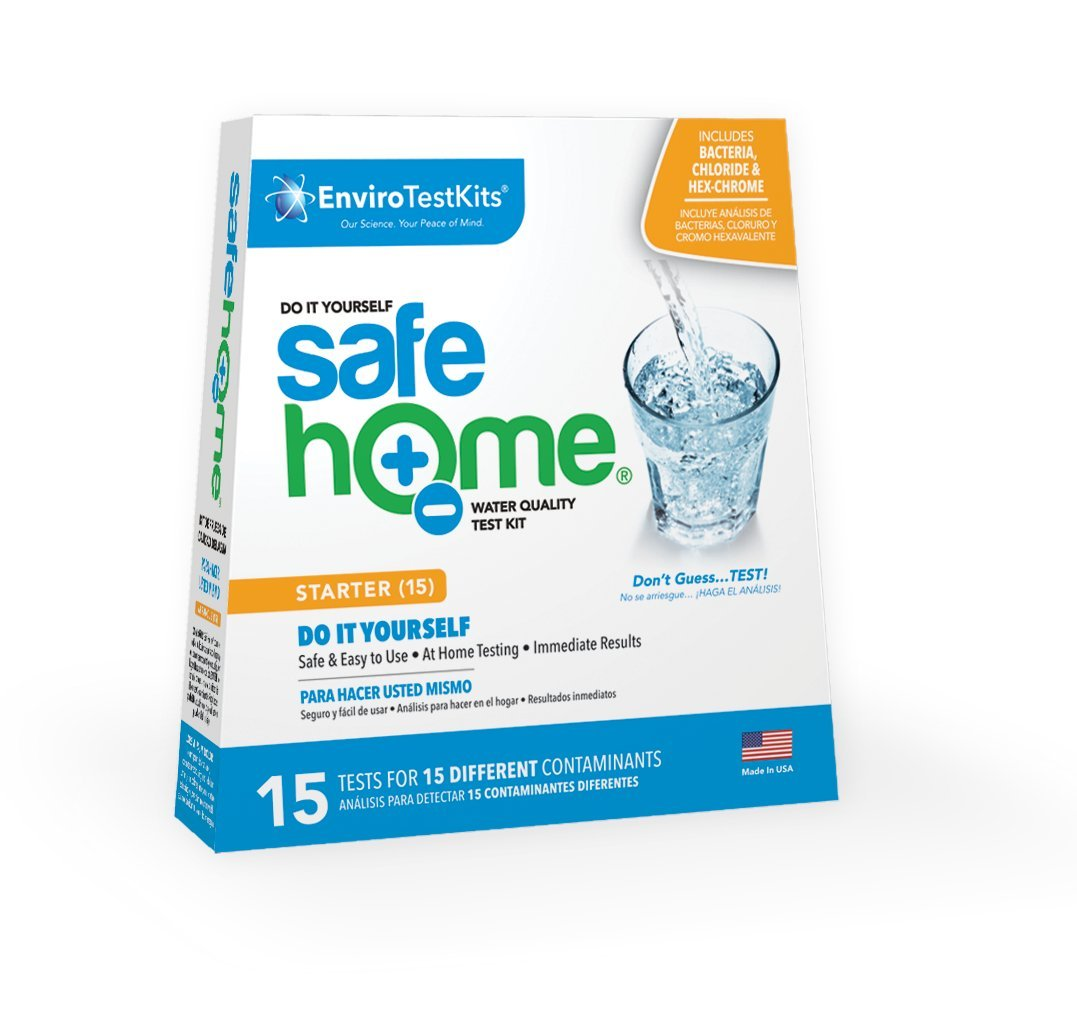 Safe Home STARTER-15 Water Quality Test Kit - (DIY Testing for 15 Different Contaminants)
