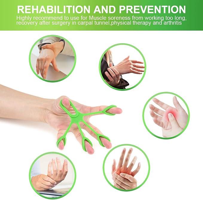 Mit Noppen Handtrainer 4 Farben 2er Set Massage Hand Grip Gummiring Dauertrainer 4 Widerst/ände